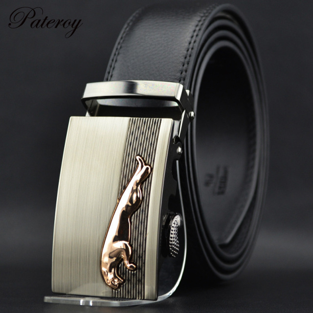 Fashion Mens Luxury Brand Belts Male Genuine Leather Belt Men Belts & Cummerbands Cinto Casual Waist Strap Trouser Belt Leopard