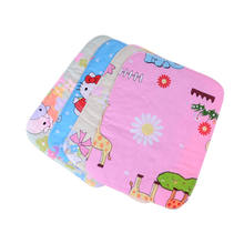 Baby Stroller Pram Waterproof Bed Urine Pad Nappy Changing Pads Covers Reusable Nappy Sheet Mat Cover approx. 35 x 25cm(China)