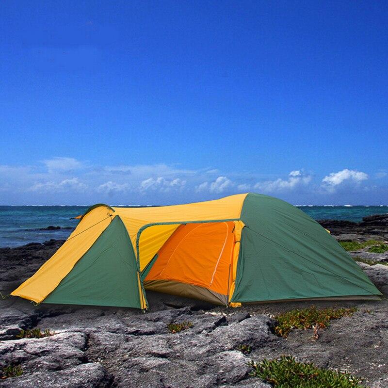 Randonnée Tentes pour loisirs de plein air De Luxe camping tente 3 4 personne antipluie imperméable tente plage Touristique tentes Double couche