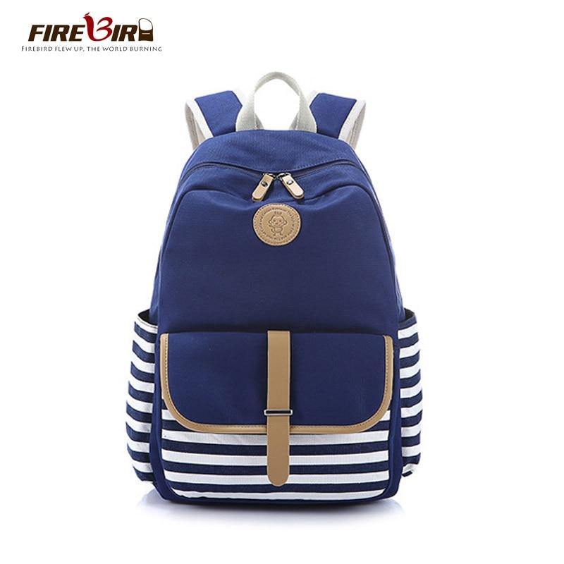Women Backpacks For Teenage Teen Girls Canvas Backpack Female Striped Feminine Backpack School Bagpack Girl Mochila Feminina Bag