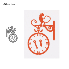 JCarter Rooster Report Time Metal Cutting Dies for Scrapbooking DIY Embossing Folder Card Photo Template Stencil Handmade Album