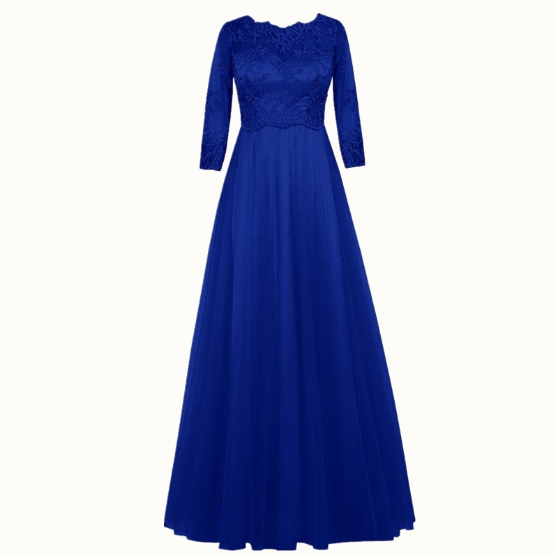 Holievery Half Sleeves Lace Chiffon   Bridesmaid     Dresses   2019 Floor Length Party   Dress   Long Maid of Honor   Dresses