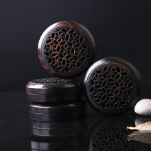 Specials boutique vintage seven-round flower round ebony rosewood openwork incense coil heaters
