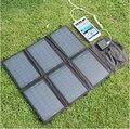 Portable cargador de 12 v 21 w cargador de panel solar de doble salida de 5 v usb y 12 v dc