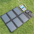 Portable charger 12V 21W Solar Panel Charger Dual Output 5V USB and 12V DC