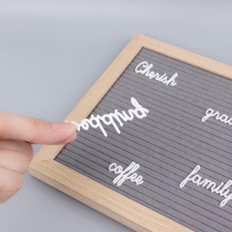 Доска для писем набор букв 194 номера специальные символы слова для фетр Сменные сообщение знаки и букв белый