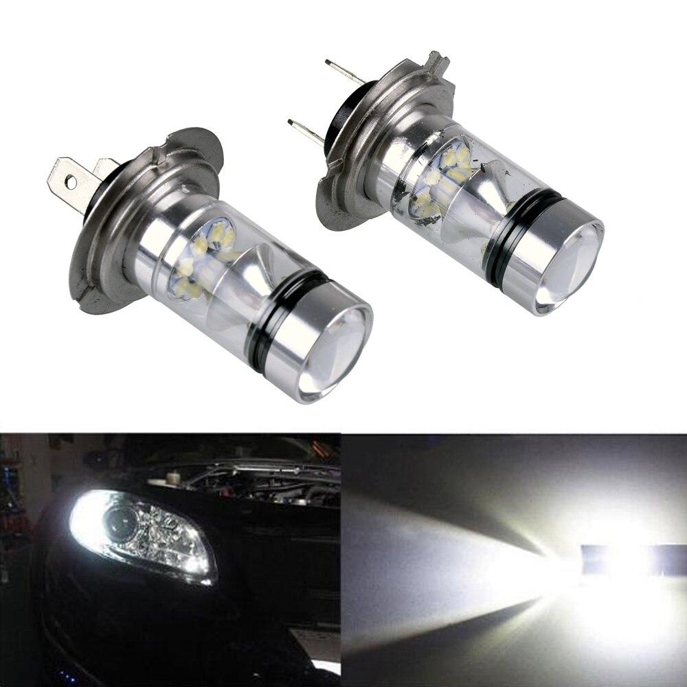 2 Pcs Car High Power LED H4 H7 H8 H11 Luz de Neblina 100 W Extremamente Brilhante 6000 K Luzes LED lâmpadas 1000LM Mergulho Luz Running