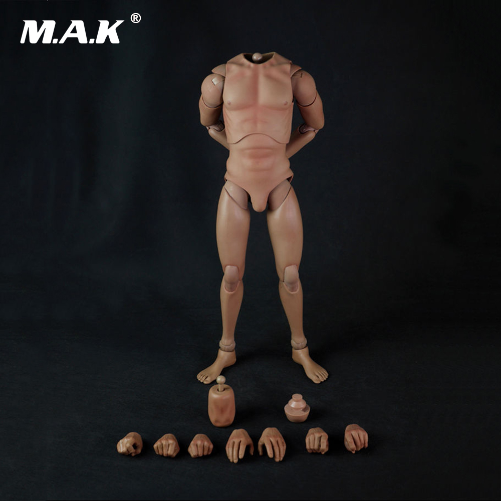 14 Scale Male Body Skin Color Muscular Male Body Movable Figure 18'' Man Figure Model Toys for Collection
