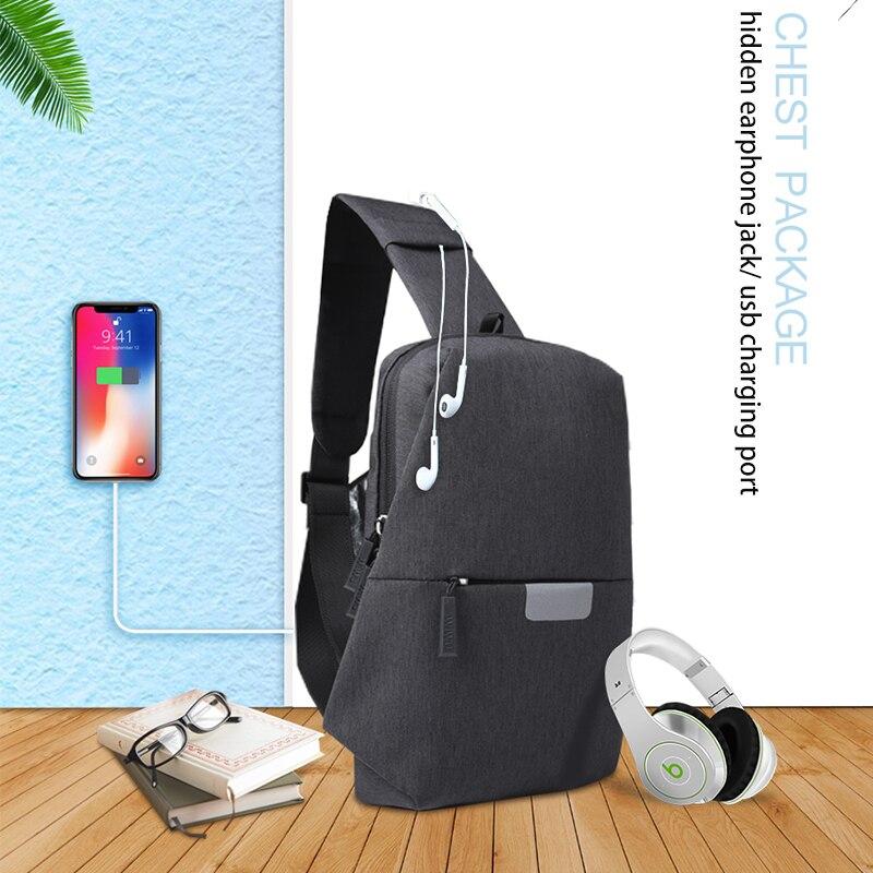 WIWU Crossbody Bags for Men Messenger Chest Bag 6