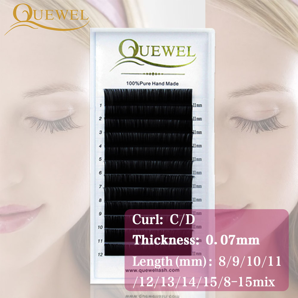 458fb6b002e Quewel Premium Eyelash Extension Faux Mink Hair Natural Long Lashes 3D  Korean Eye Lash Natural Style Individual False Eyelashes