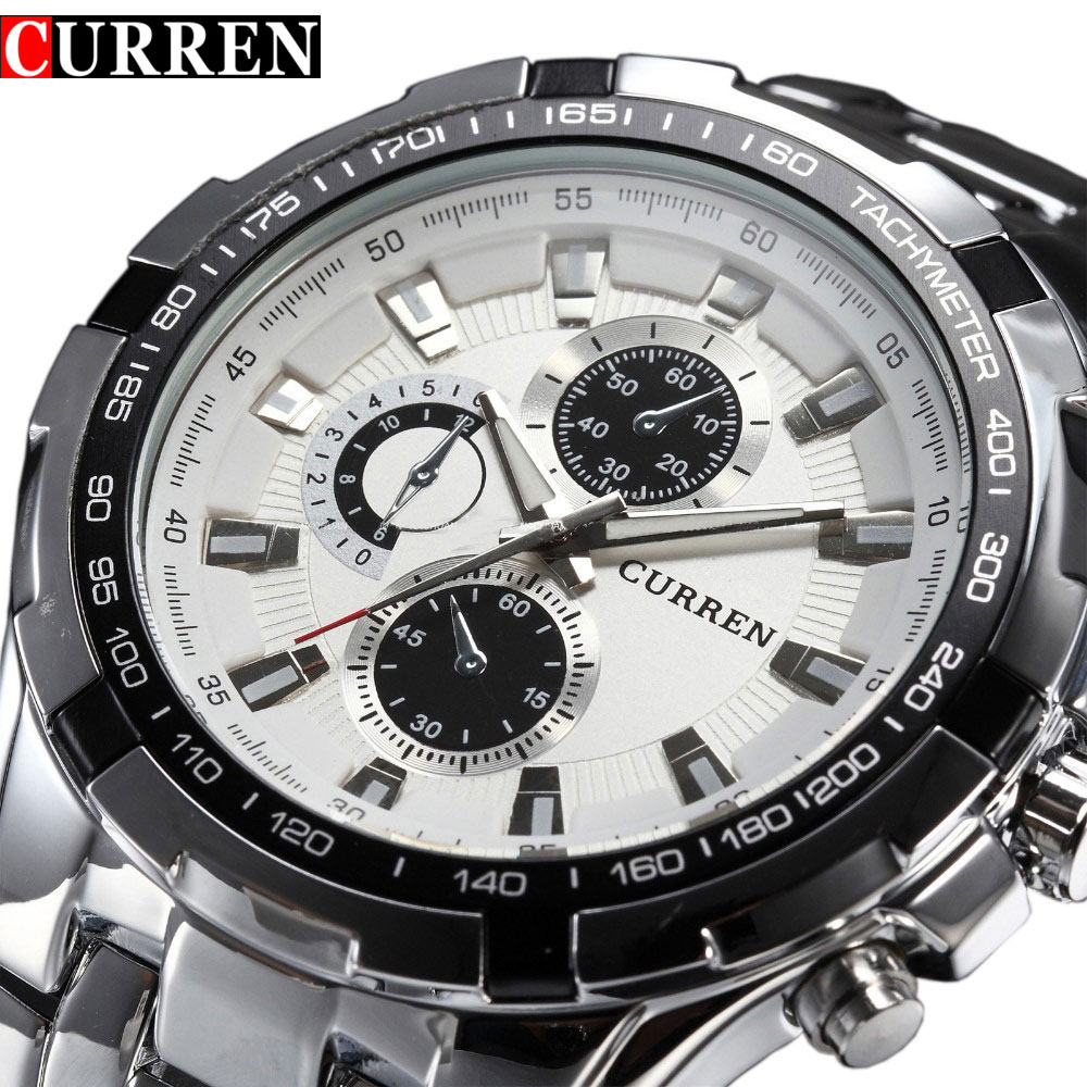 2018 Top Brand Luxury full steel Watch Men Business Casual quartz Wrist Watches Military Wristwatch waterproof Relogio SALE New(China)
