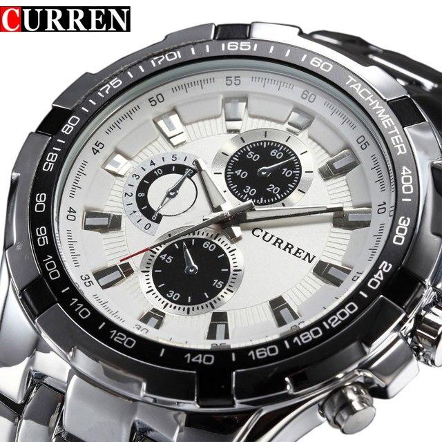 2018 Top Brand Luxury full steel Watch Men Business Casual quartz Wrist Watches