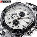 2018 de la marca de lujo de completa de acero, reloj de los hombres de negocios Casual relojes de pulsera de cuarzo reloj de pulsera militar impermeable reloj venta nuevo