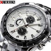 e5d0377a 2018 лучший бренд класса люкс Полный сталь часы для мужчин бизнес  повседневное кварцевые наручные часы Военная