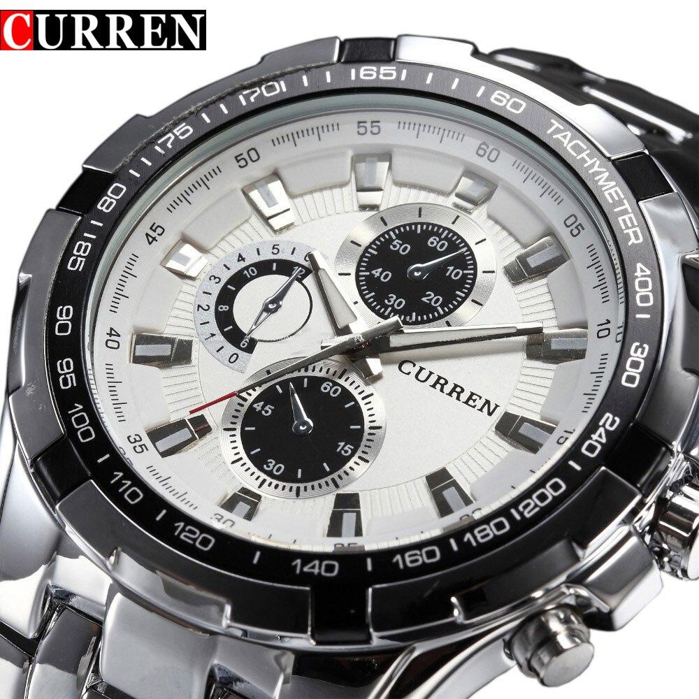 Top Brand Luxury full steel Watches Men Sports Business Casual quartz Wrist Watches Military Wristwatch waterproof