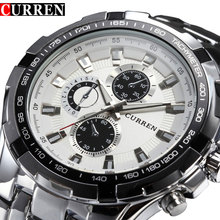 Top Brand Luxury full steel Watches Men Sports Business Casual quartz