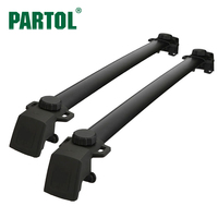 Partol 2pcs For Jeep Compass 2011 2016 Aluminum Car Roof Rack Cross Bar Crossbars Side Rail