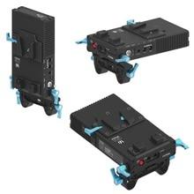 FOTGA DP500III v mount BP Placa de fuente de alimentación de batería DP500III fuente de alimentación para batería de montaje en V para Canon 5DII 5diii