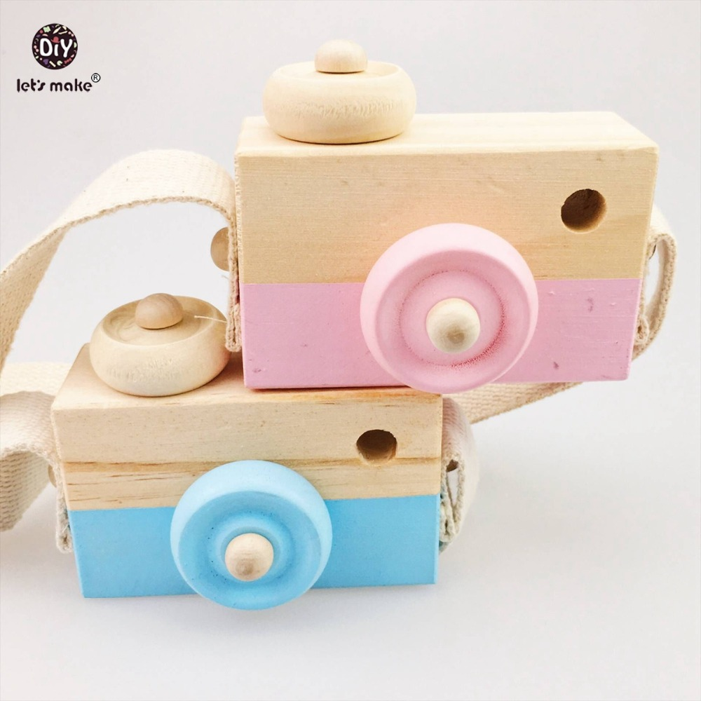 Let's make Baby Kids Cute Wood Camera Wooden Toys Children Fashion Clothing Accessory Toys Birthday Children's Day Gift Blocks five in one uniting chess wood multifunction checkers backgammon exercise children thinking family board game kids birthday gift