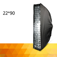 soft light box with 22 * 90 cm umbrella structure opens and closes fast long box CD50