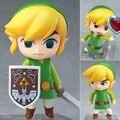 """Бесплатная доставка симпатичные 4 """" Nendoroid легенда о Zelda ссылка ветер Waker ver. Коробку пвх эктон модель коллекция игрушек # 413"""