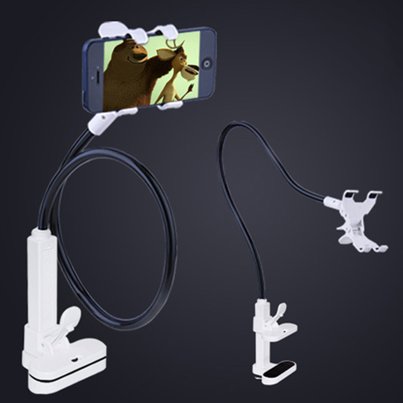 Universal 360 Rotating Adjustable Mobile Phone Holders Stands Bracket Clamp For iPhone 6S 7 Plus for iPad Tablets Support Holder