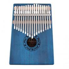 17 клавиш Kalimba одноплатный из красного дерева большого пальца пианино Mbira натуральный мини-клавиатура инструмент с 7 шт. аксессуары