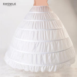 Lace Edge 6 Hoop Petticoat Underskirt For Ball Gown Wedding Dress Tulle Jupon Mariage Underwear Crinoline Wedding Accessories