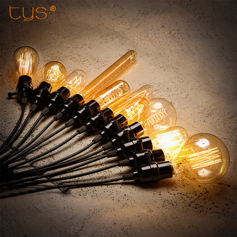 Edison Bulb E27 220V Retro Lamp 40W ST64 A19 Ampoule vintage Bulb edison Lamp incandescent light lamp Decorative filament bulb