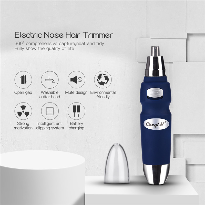Nose Hair Trimmer Nasal Wool Implement Rotary Cutting System Dual-edge Stainless Cutter Blade Nose Haircut For Men Razor Clipper