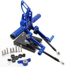 For Ducati STREETFIGHTER 848 1100 Motorcycle Foot Pegs CNC Adjustable Rearset Rests Footpegs Footrests Pedal