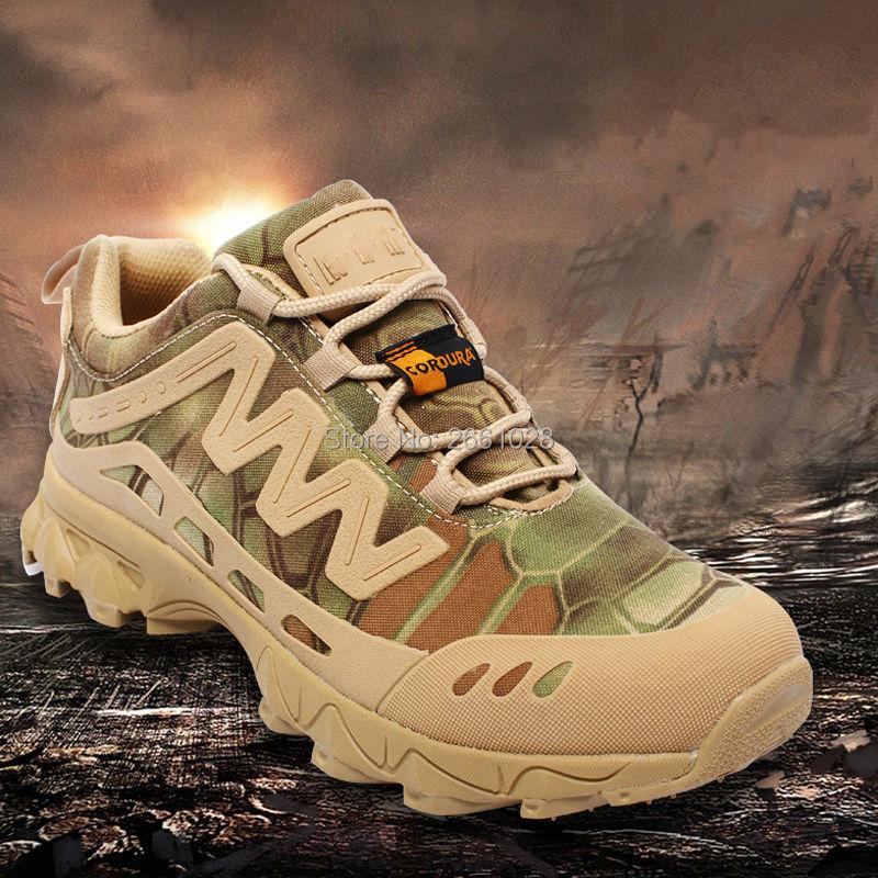 Prix pour 2017 Haute qualité Tactique Militaire Camo bottes Hommes Imperméable Respirant Chaussures de Randonnée En Plein Air Sport Trekking Sport Sneakers