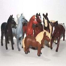 solid pvc figure animal model toy decoration horse 7pcs/set