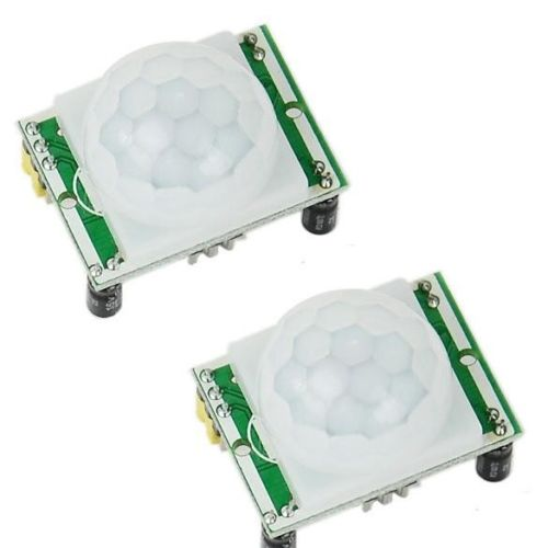 2 pcs HC-SR501 Adjust IR Pyroelectric Infrared PIR Motion Sensor Detector Module