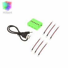 6-port USB Lipo Battery Charger with 6pcs 2.0 Charging Cable for WLtoys V911 series F929 F939 RC Helicopter Airplane