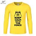 100% Хлопок Звездные войны Футболка Дети Мальчик Девушки Дети Хлопка футболка Сохранять Спокойствие И Использовать Силу Школьные Рубашки Для Мальчиков CL182