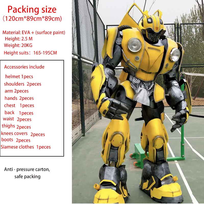 Armure de costume portable bourdon transformateurs d'armure Cosplay armure portable pour Optimus Prime et Megatron