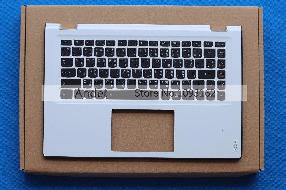 New Original for Lenovo Yoga 3 14 Palmrest Keyboard Bezel Upper Case Cover White Thai new original lenovo yoga 710 15isk 710 15 palmrest upper case keyboard bezel cover