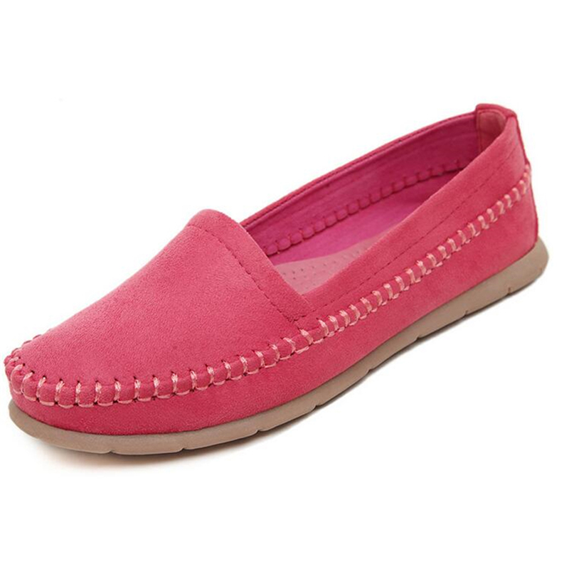 Women Shoes High Taste Naked Color Flat Shoes Woman Loafers Spring Summer Casual Basic Slip On 4Colors Plus Size 40 WFS115
