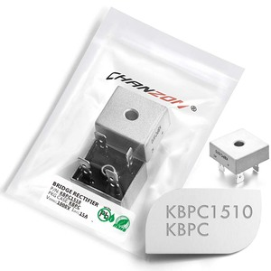 2 Pcs KBPC1510 Bridge Rectifier Diode 15A 1000V KBPC 1510 Single Phase Full Wave 15 Amp 1000 Volt Electronic Silicon
