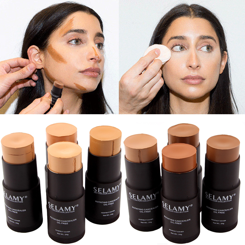 1pcs Foundation Makeup Full Cover Contour Face Concealer Base Primer Moisturizer Hide Blemish Brand Bronzer Concealer Stick(China)
