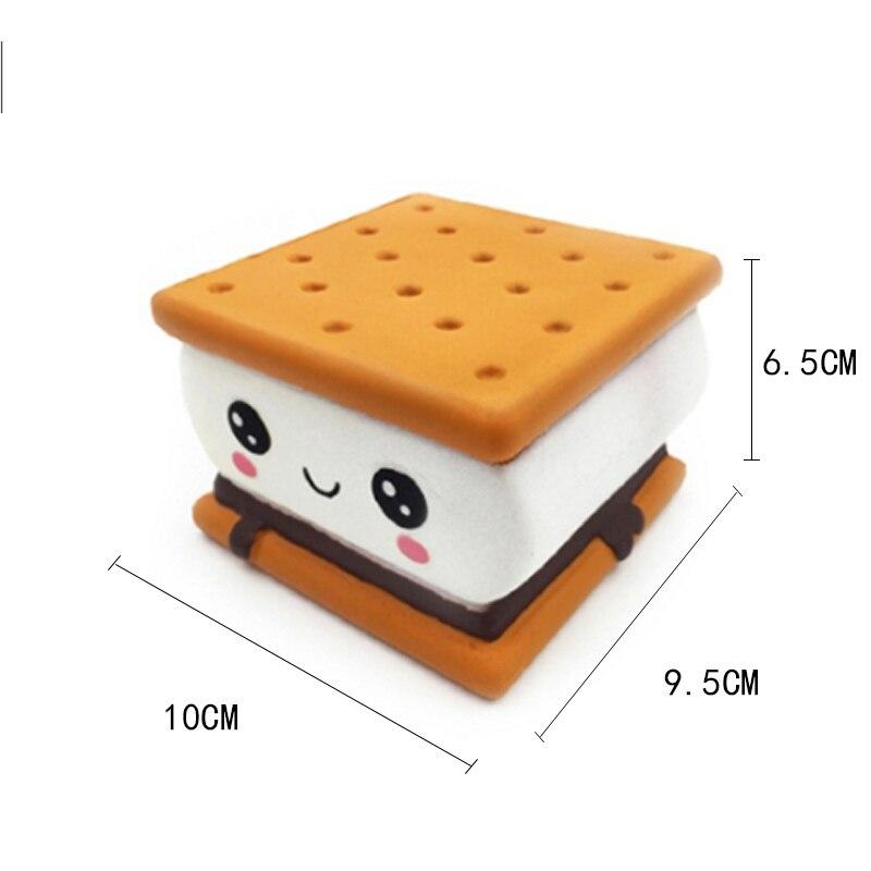 Купить с кэшбэком Jumbo Kawaii Chocolate Biscuit Squishy Soft Squeeze Toy Simulation Bread Cake Scented Slow Rising Anti Stress Fun for Kid Gift
