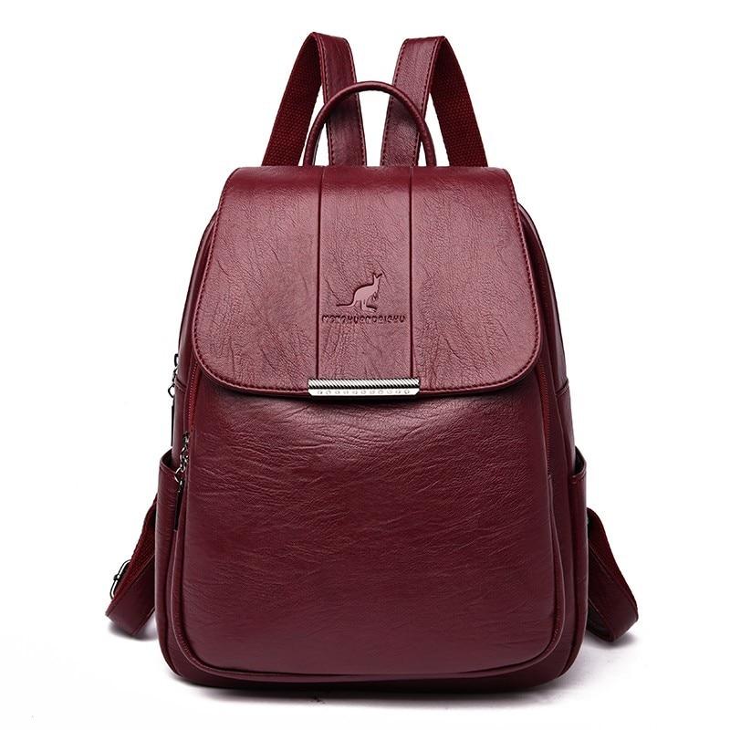 2019 Women Leather Backpacks High Quality Female Vintage Backpack For Girls School Bag Travel Bagpack Ladies Sac A Dos Back Pack