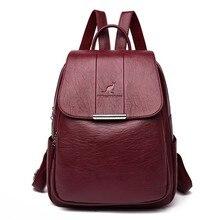 2020 kadın deri sırt çantaları yüksek kaliteli kadın bağbozumu sırt çantası kız çocuk okul çantası seyahat sırt çantası bayanlar kese Dos sırt çantası