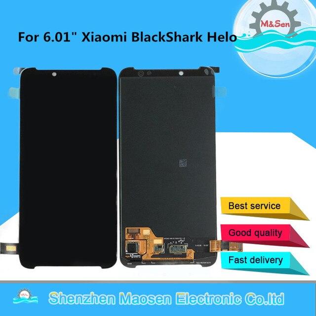 شاشة عرض أصلية 6.01 بوصة مجربة لهاتف شاومي BlackShark Helo بشاشة عرض LCD + محول رقمي للوحة اللمس لشاشة عرض سمك القرش الأسود