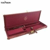 Tourbon охотничье ружье футляр для хранения ружья с замками из натуральной кожи несущей охотничье ружье аксессуары