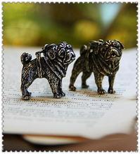 Ожерелье для мопса ожерелье ручной работы тисненый кулон ювелирных