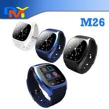 Waterproof font b Smartwatch b font M26 Bluetooth Smart Watch With LED Alitmeter Music Player Pedometer