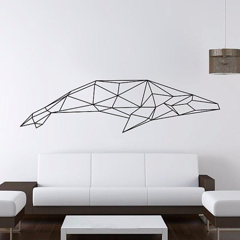 Aliexpresscom Buy Geometric Animals Shark Vinyl Wall Decal