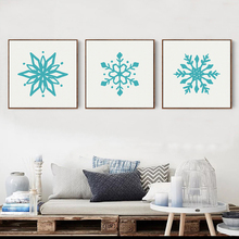 Northern Europe Simple Snowflake Pattern Abstract Canvas Painting Art Print Poster Picture Wall Paintings  Home Decor OT029